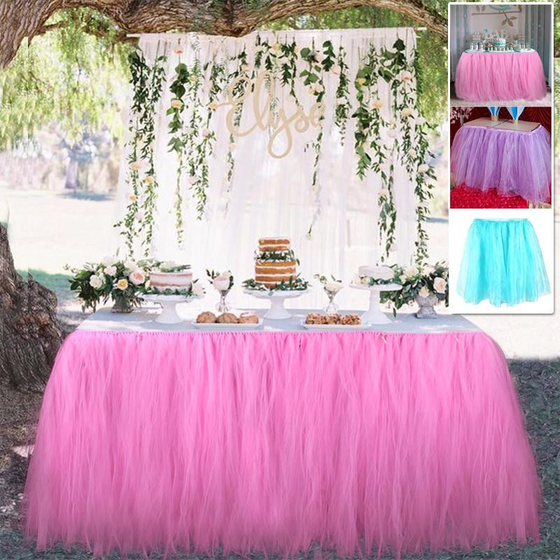 Best ideas about Tulle Table Skirt DIY . Save or Pin Tutu Table Skirt Tulle Tableware DIY Tablecloth Skirts Now.