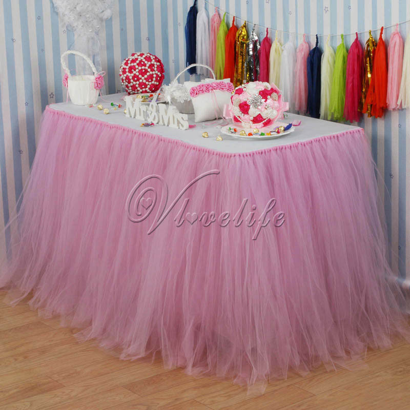 Best ideas about Tulle Table Skirt DIY . Save or Pin 100cm x 80cm Pink Tulle Tutu Table Skirt Custom Wonderland Now.
