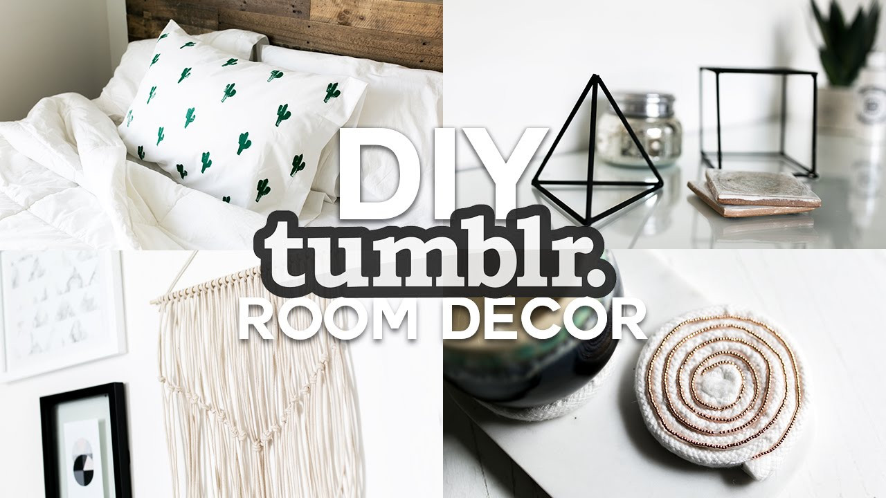 Best ideas about Tumblr DIY Room Decor . Save or Pin DIY Tumblr Inspired Room Decor Minimal & Simple 2016 Now.