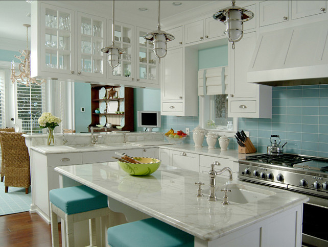 Best ideas about Turquoise Kitchen Decor Ideas . Save or Pin 60 Inspiring Kitchen Design Ideas Home Bunch Interior Now.