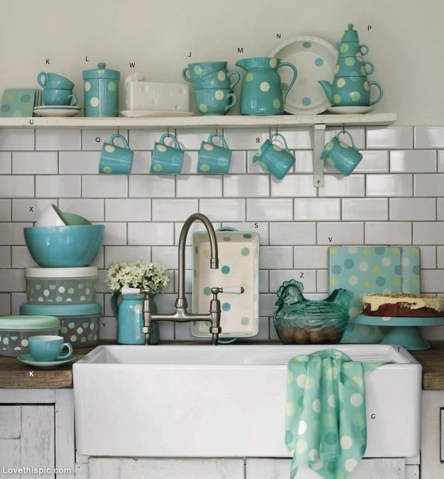 Best ideas about Turquoise Kitchen Decor Ideas . Save or Pin 15 Favorite Ideas for Turquoise Kitchen Decor and Now.