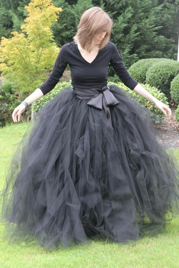 Best ideas about Tutu Skirts For Adults DIY . Save or Pin Black adult tutu long black skirt sewn tutus Wide by Now.