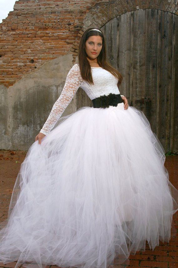 Best ideas about Tutu Skirts For Adults DIY . Save or Pin Bridal length tulle skirt for wedding or portraits Now.