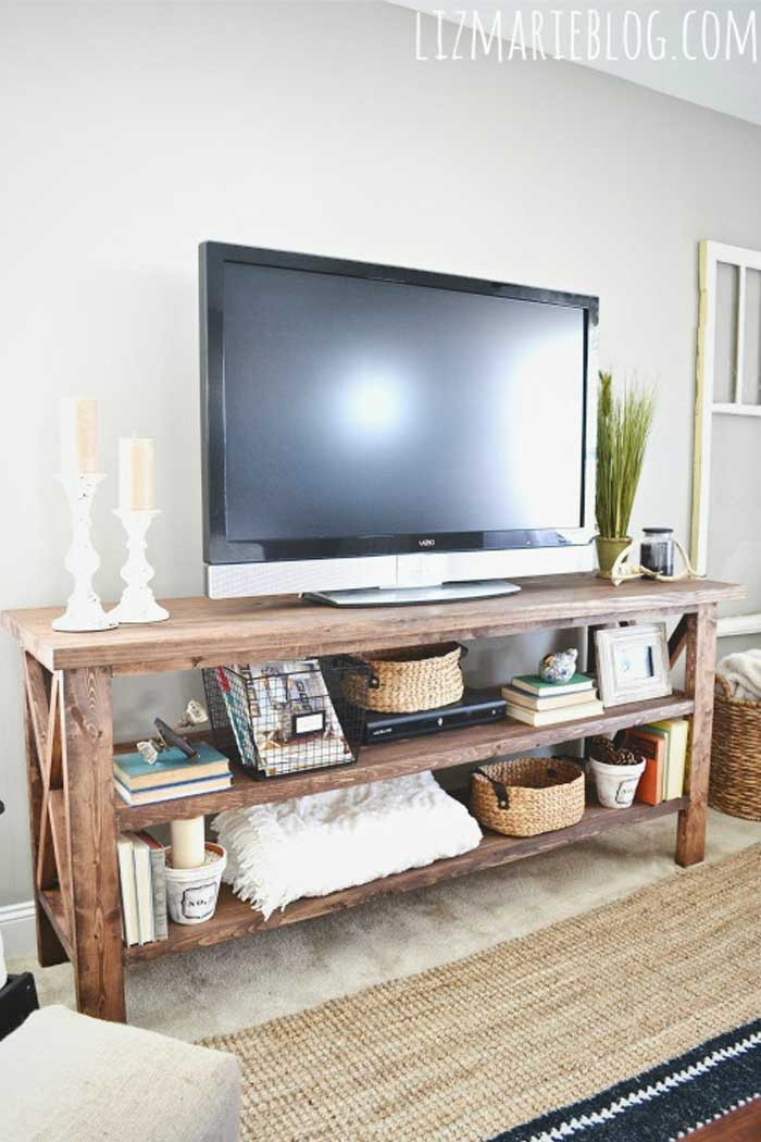 Best ideas about Tv Stand Ideas For Living Room . Save or Pin 50 Creative DIY TV Stand Ideas for Your Room Interior Now.