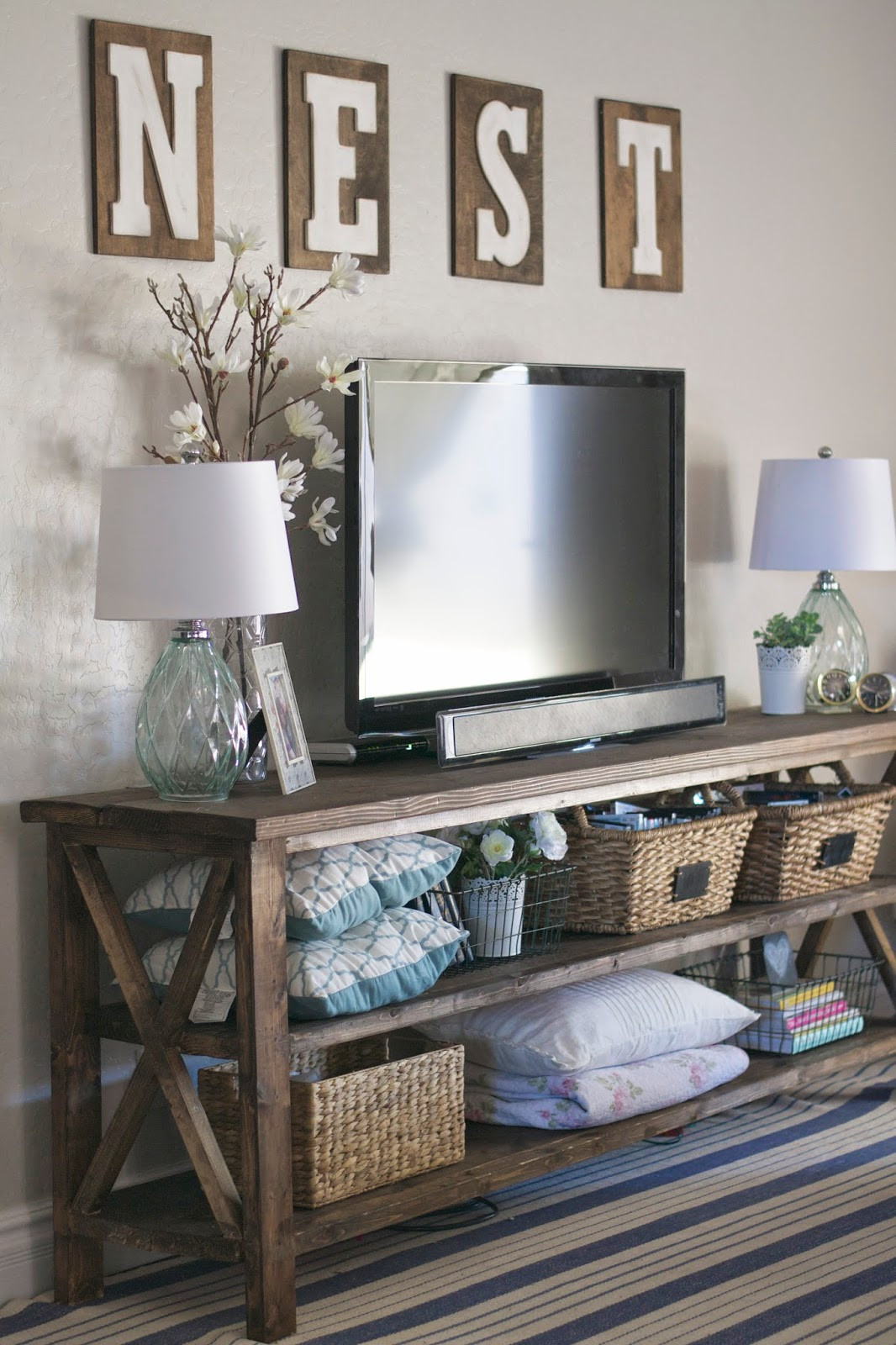 Best ideas about Tv Stand Ideas For Living Room . Save or Pin Farmhouse Home Decor Ideas The 36th AVENUE Now.