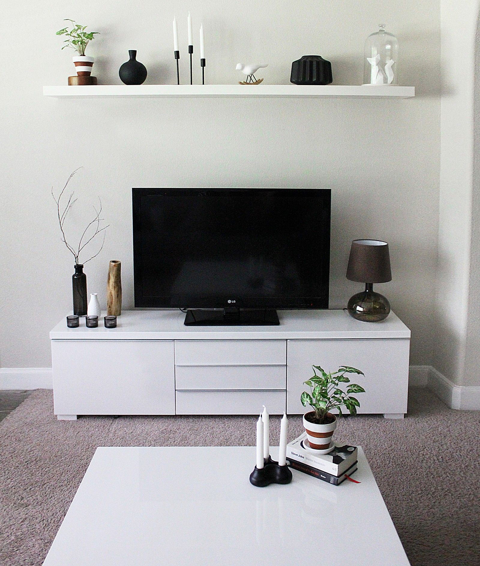 Best ideas about Tv Stand Ideas For Living Room . Save or Pin Minimalist TV Stand and Cabinet IKEA Besta Now.