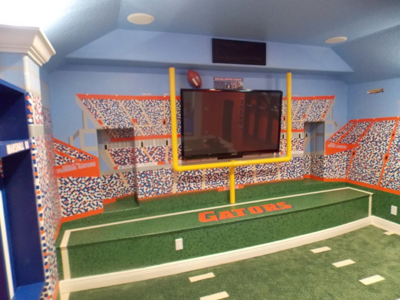 Best ideas about Uf Game Room . Save or Pin Florida Gators Theme Home Theater Room Theme Room Design Now.