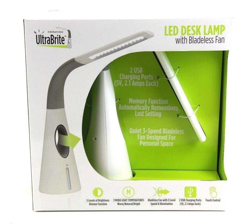 Best ideas about Ultrabrite Led Desk Lamp With Bladeless Fan . Save or Pin Boxed Ultrabrite Led Desk Lamp With Bladeless Fan Modern Now.