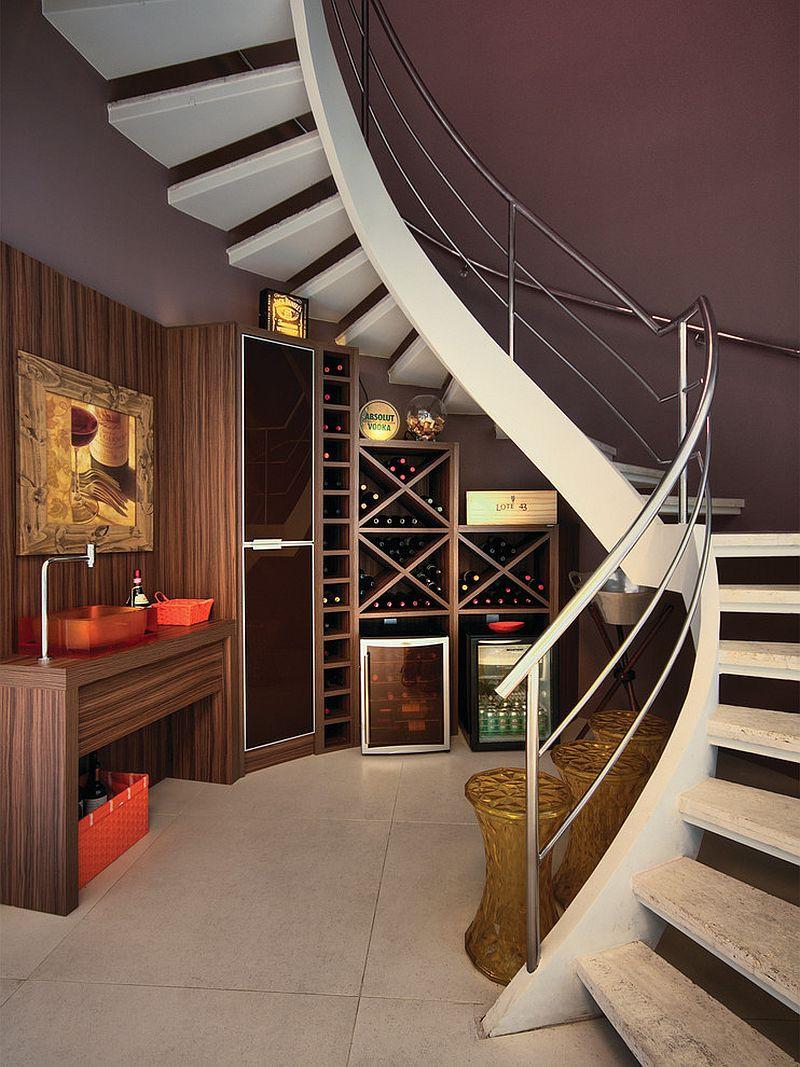 Best ideas about Under Stair Storage Ideas . Save or Pin 20 Eye Catching Under Stairs Wine Storage Ideas Now.