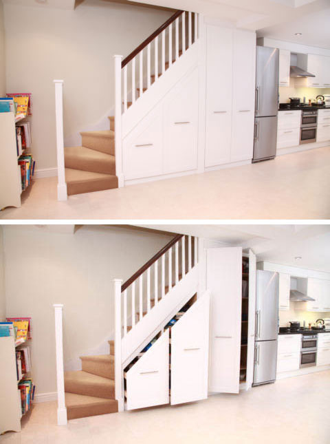 Best ideas about Under Staircase Storage Ideas . Save or Pin 21 Staircase Storage Ideas InspirationSeek Now.