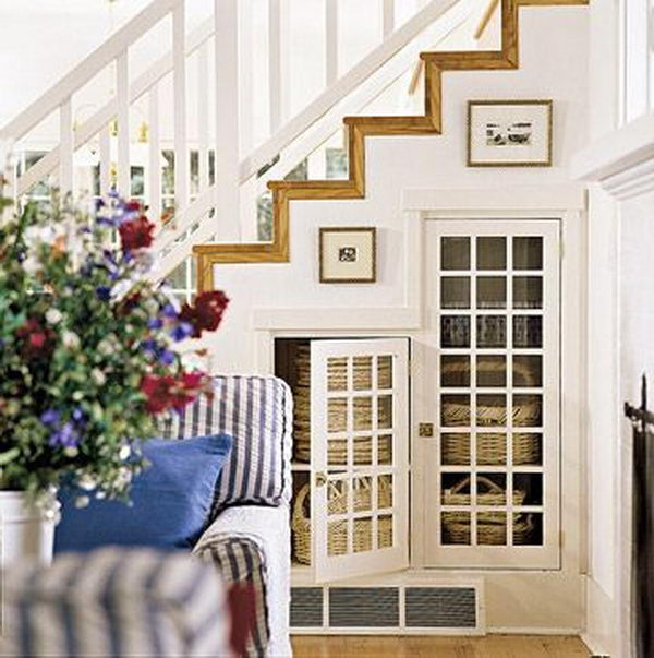 Best ideas about Under Staircase Storage Ideas . Save or Pin 20 Clever Basement Storage Ideas Hative Now.