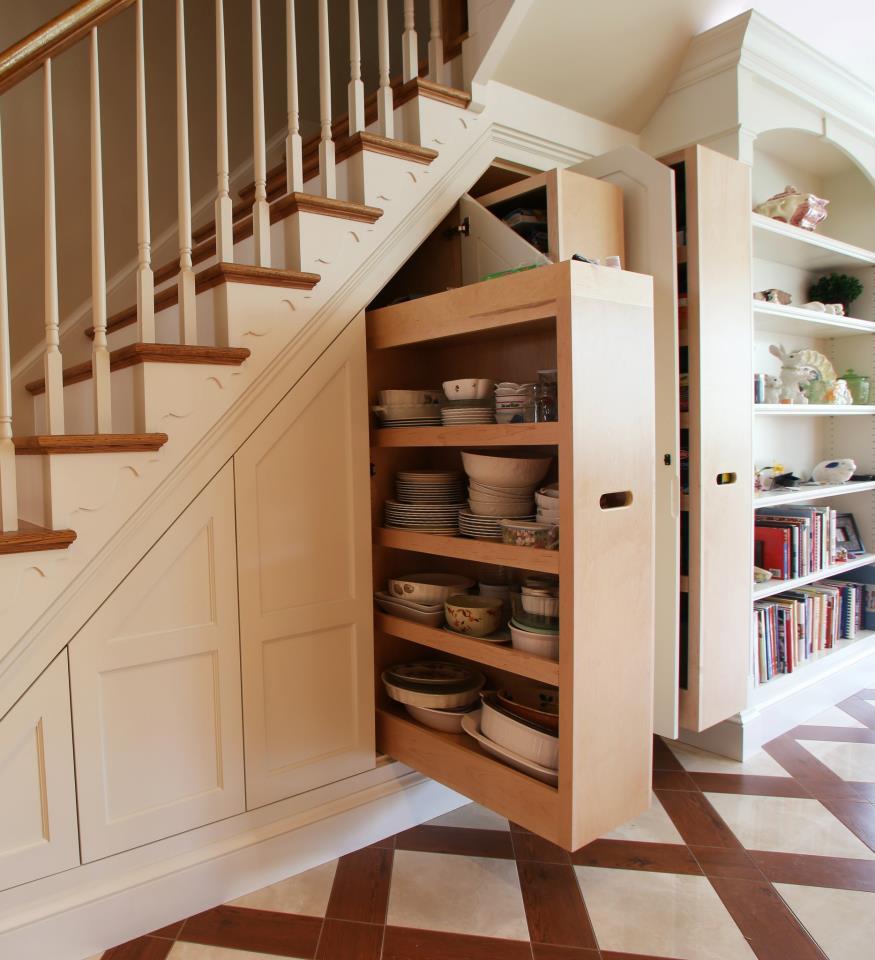 Best ideas about Under Stairs Storage Idea . Save or Pin 12 Storage Ideas for Under Stairs – Design Sponge Now.