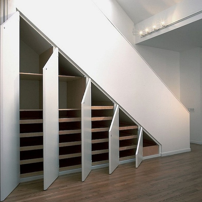 Best ideas about Under Stairs Storage . Save or Pin 5 Clever Storage Solutions for Small Spaces The Chromologist Now.