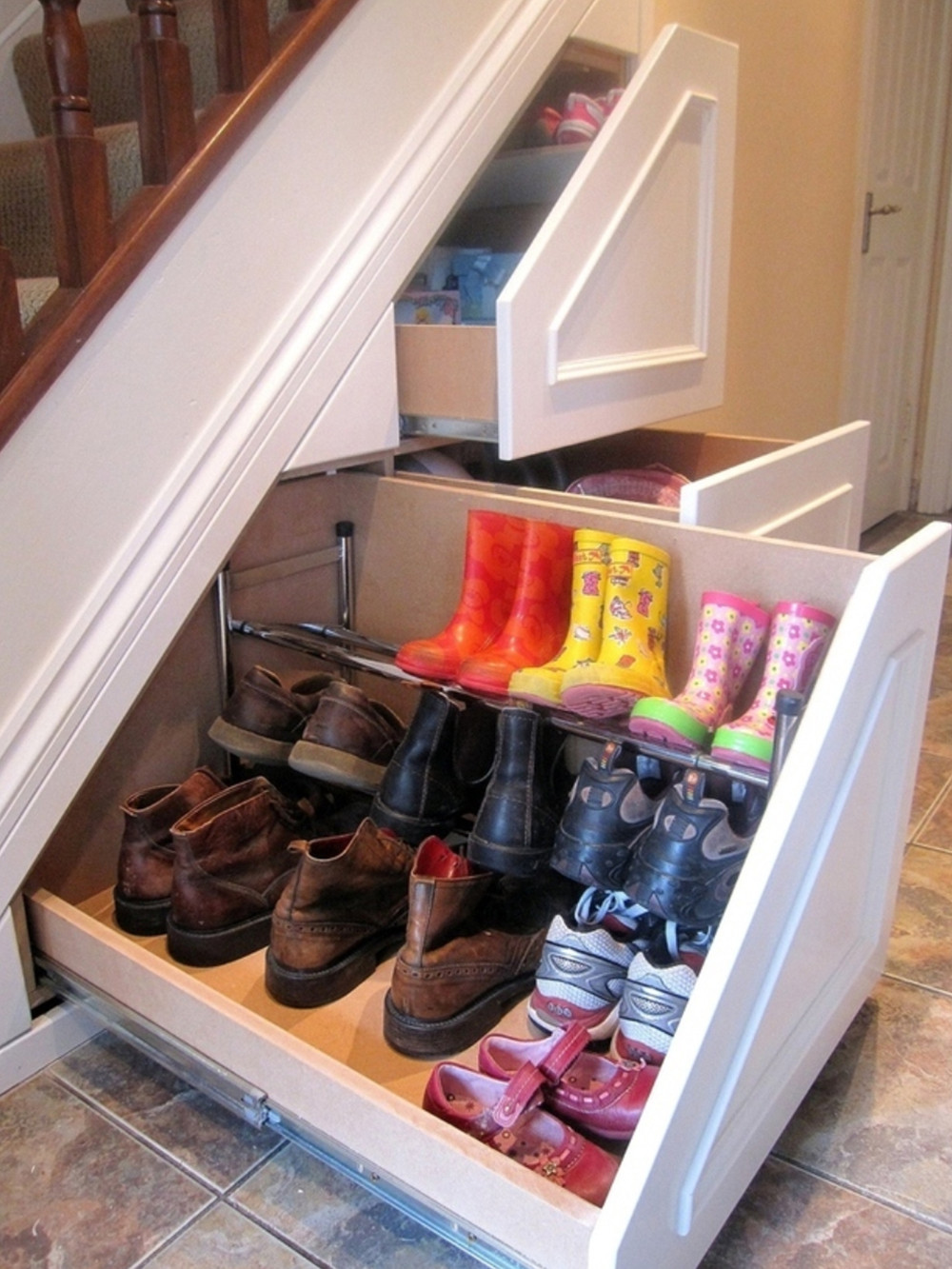 Best ideas about Under The Stairs Storage . Save or Pin 50 Best Shoe Storage Ideas for 2017 Now.