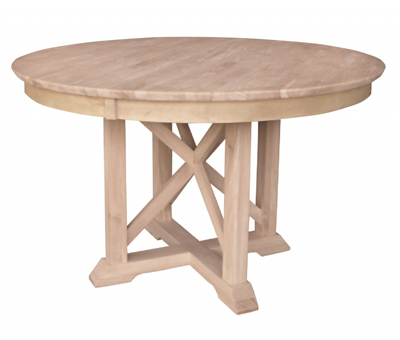 """Best ideas about Unfinished Dining Table . Save or Pin Unfinished Arlington Pedestal Table 48"""" Round x 30"""" h Now."""