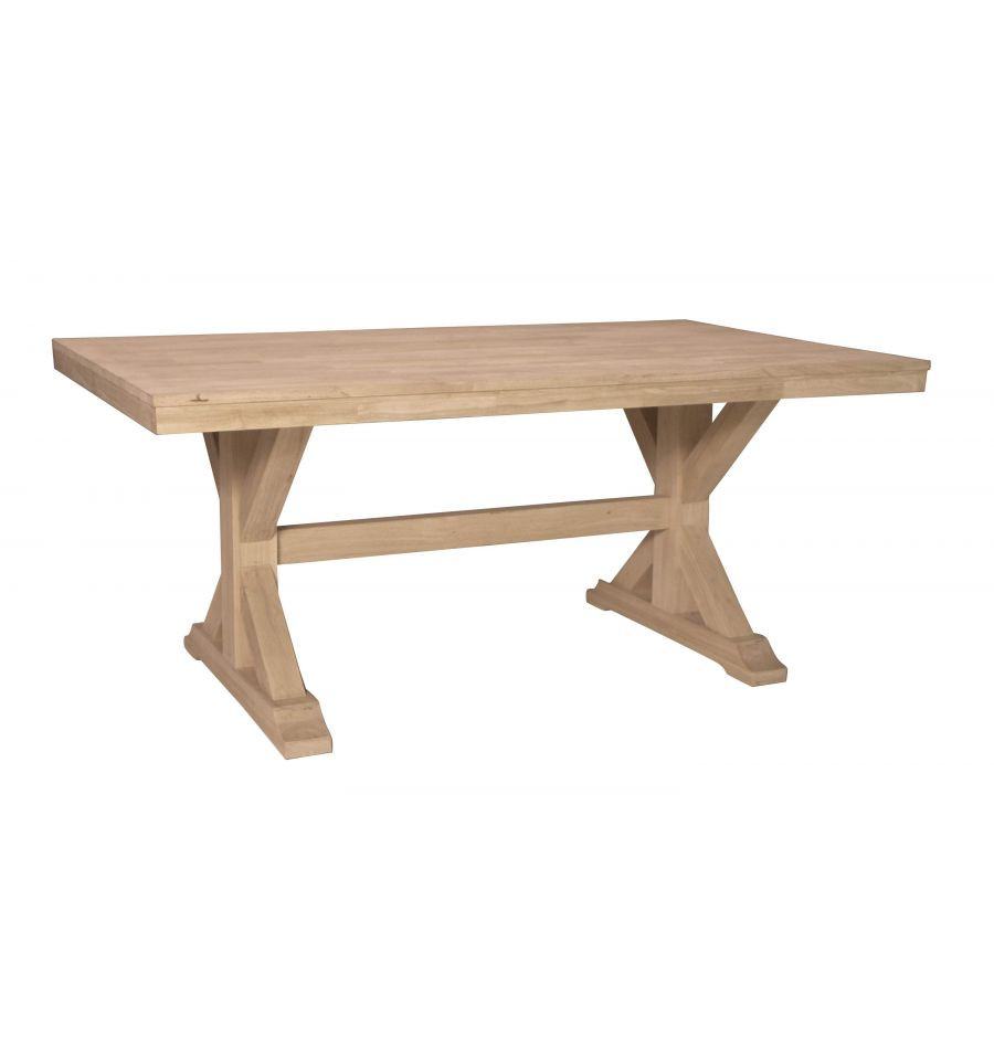 Best ideas about Unfinished Dining Table . Save or Pin [68 Inch] Canyon X Dining Table Burr s Unfinished Now.