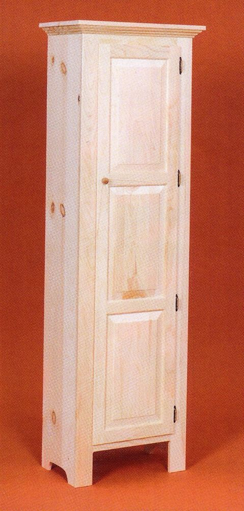 Best ideas about Unfinished Pantry Cabinet . Save or Pin AMISH Unfinished Solid Pine TALL PANTRY JELLY Storage Now.