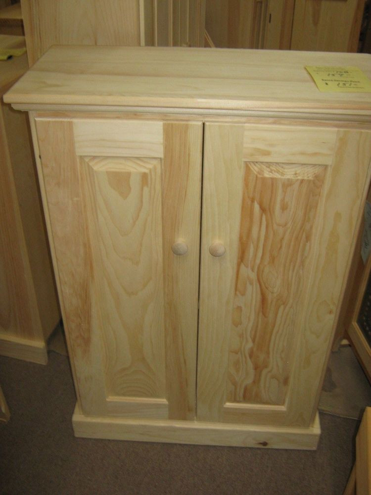 Best ideas about Unfinished Pantry Cabinet . Save or Pin AMISH Unfinished Pine Rustic 2 Door 2 Shelf Pantry Now.