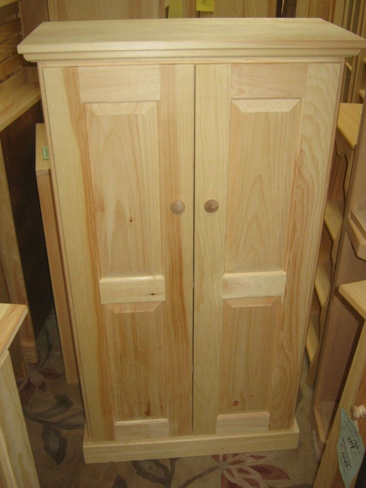 Best ideas about Unfinished Pantry Cabinet . Save or Pin AMISH Unfinished Pine Rustic 2 Door Pantry Cabinet with Now.