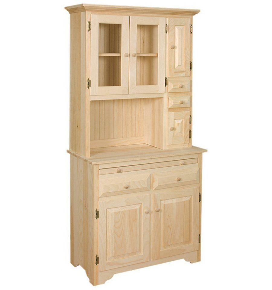 Best ideas about Unfinished Pantry Cabinet . Save or Pin AMISH Unfinished Solid Pine HOOSIER China Pantry Storage Now.