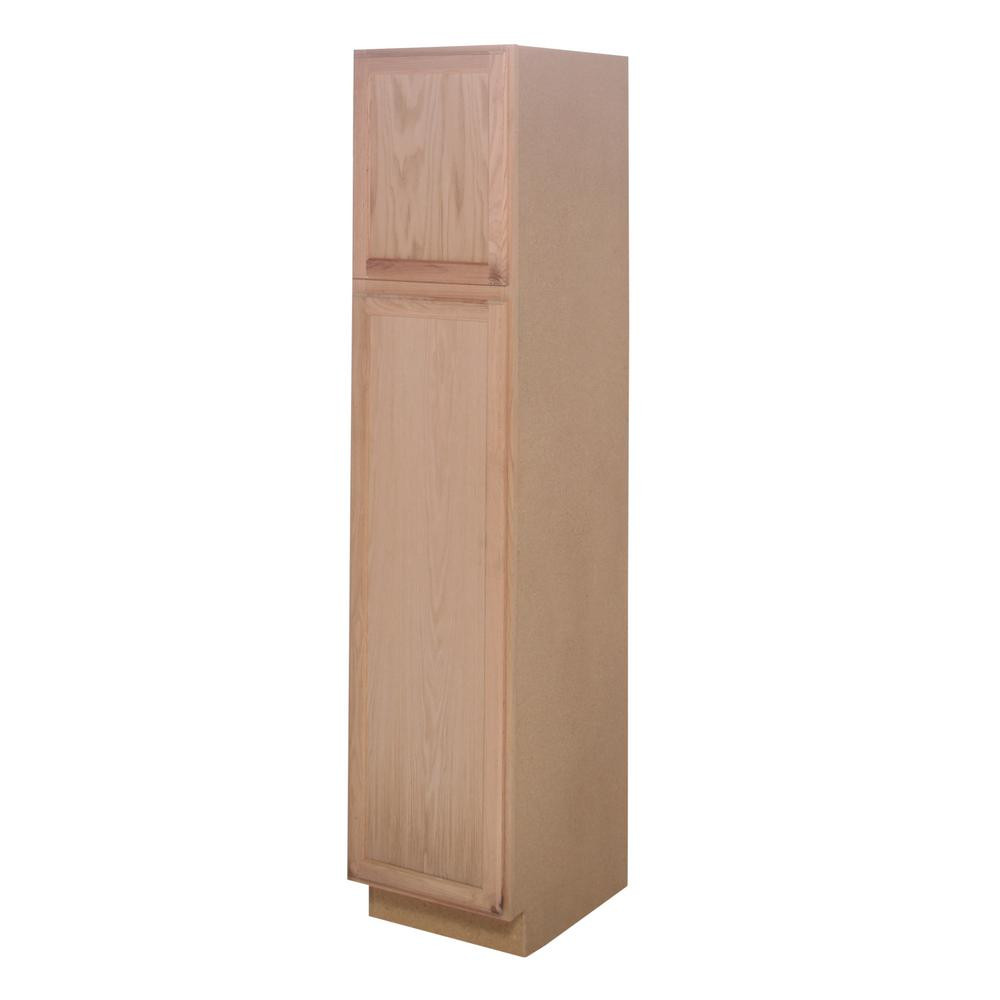 Best ideas about Unfinished Pantry Cabinet . Save or Pin Unfinished Assembled 18 x 84 x 24 in Base Pantry Kitchen Now.