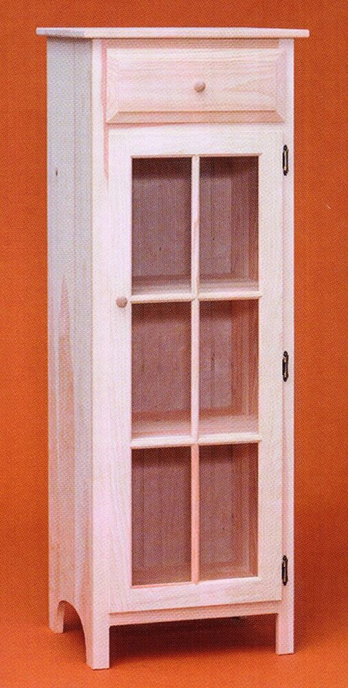 Best ideas about Unfinished Pantry Cabinet . Save or Pin AMISH Unfinished Solid Pine Jelly Cabinet Shabby Chic Now.