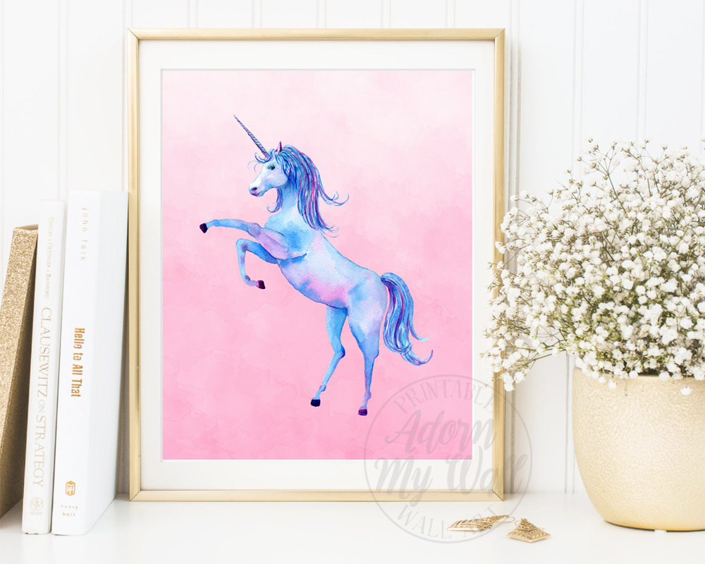 Best ideas about Unicorn Wall Art . Save or Pin Unicorn Print Watercolour Unicorn Wall Art Unicorn Now.