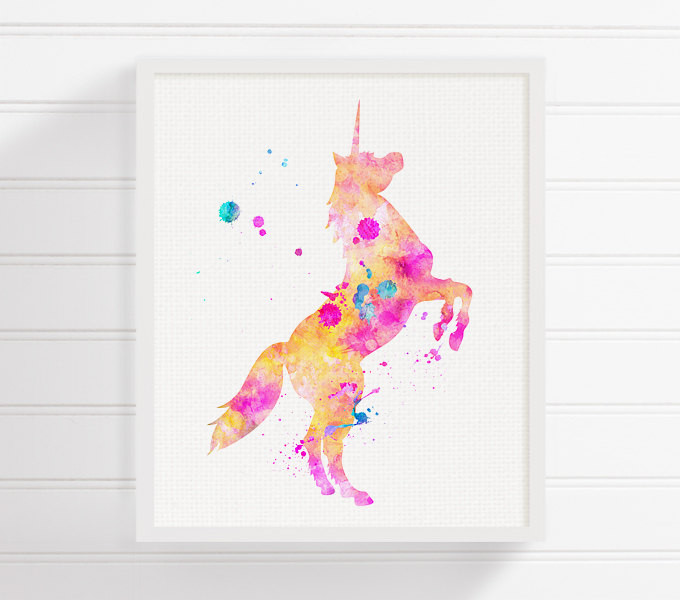 Best ideas about Unicorn Wall Art . Save or Pin Unicorn Art Print Watercolor Unicorn Unicorn Painting Now.