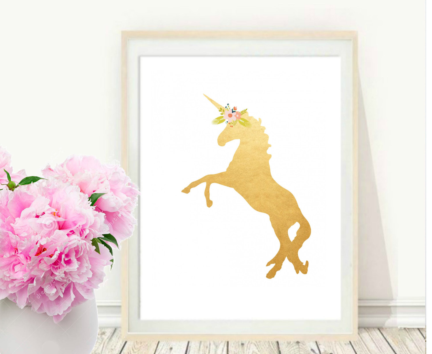 Best ideas about Unicorn Wall Art . Save or Pin Unicorn Print Printable Art Gold Unicorn Unicorn Wall Art Now.