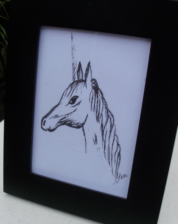 Best ideas about Unicorn Wall Art . Save or Pin Unicorn Print 5x7 Unicorn Wall Decor by LoraArtandStationery Now.