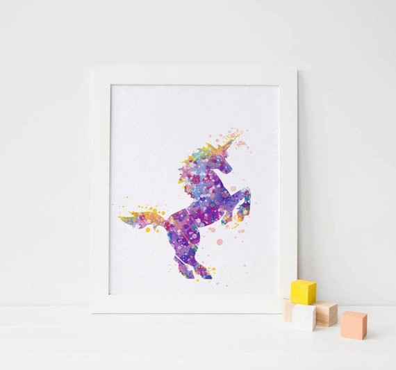 Best ideas about Unicorn Wall Art . Save or Pin Unicorn print unicorn Watercolor unicorn wall art Print Now.