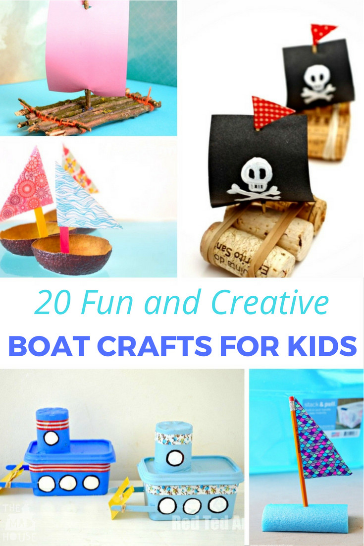 Best ideas about Unique Crafts For Kids . Save or Pin 20 Fun & Creative Boat Crafts for Kids Mum In The Madhouse Now.