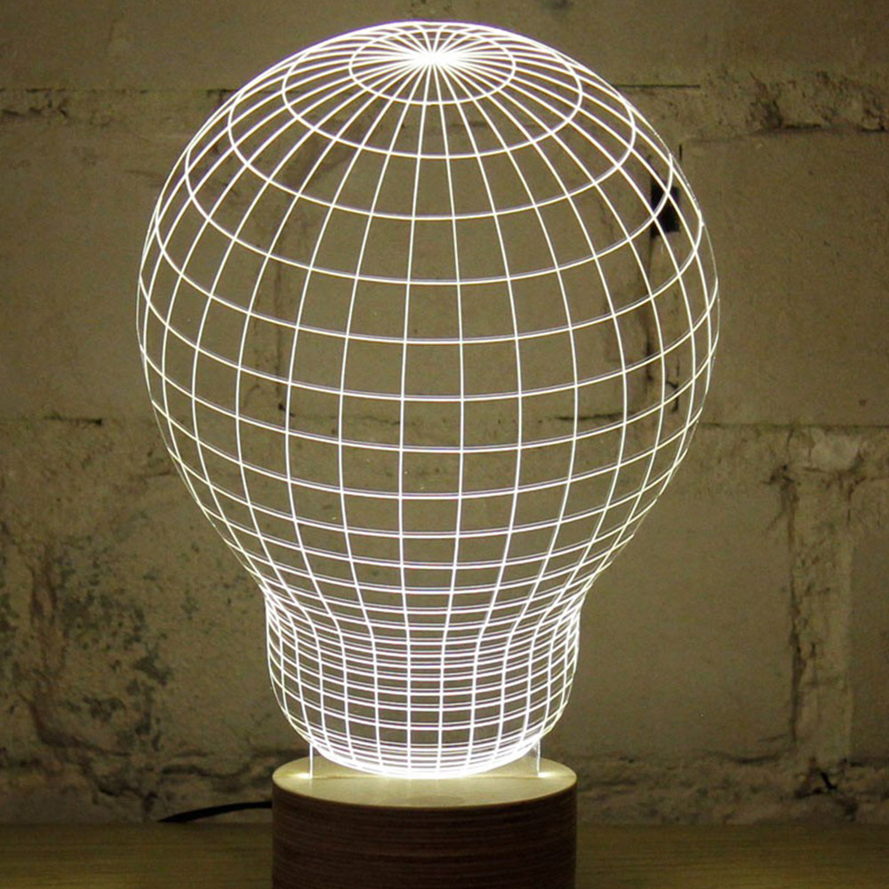 Best ideas about Unique Desk Lamp . Save or Pin Novelty Unique 3D Illusion Bulb Lamp Night Light USB Table Now.