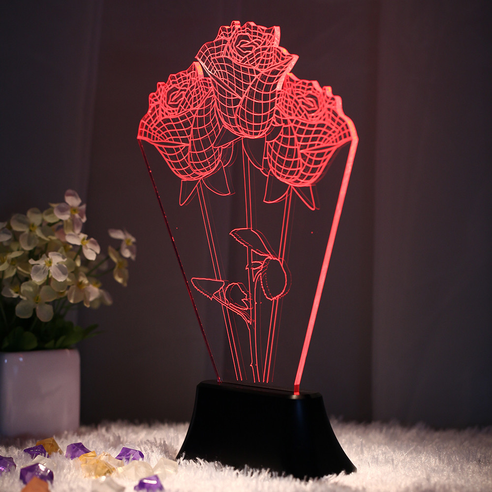 Best ideas about Unique Desk Lamp . Save or Pin Home Novelty Unique 3D Bulb Lamp LED Night Light USB Table Now.
