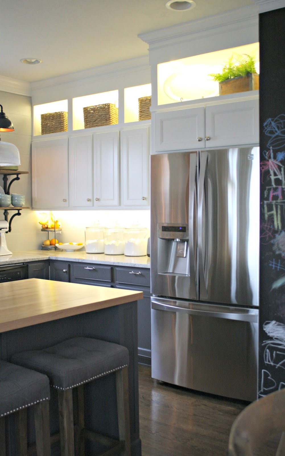 Best ideas about Upper Kitchen Cabinets . Save or Pin DIY Upper and Lower Cabinet Lighting from Thrifty Decor Chick Now.