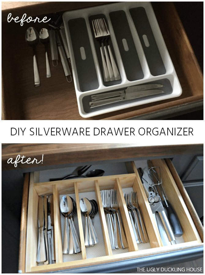 Best ideas about Utensil Drawer Organizer DIY . Save or Pin $10 to Organized DIY Silverware Drawer Organizer The Now.
