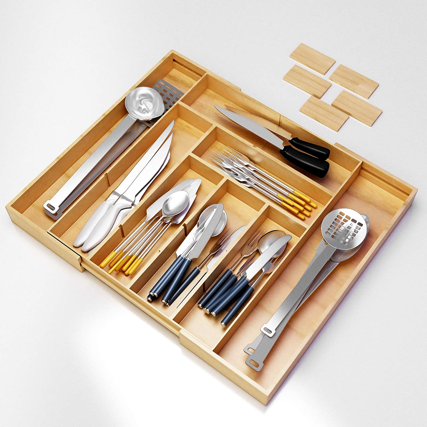 Best ideas about Utensil Drawer Organizer DIY . Save or Pin Flatware Silverware Kitchen Drawer Organizer Utensil Tray Now.