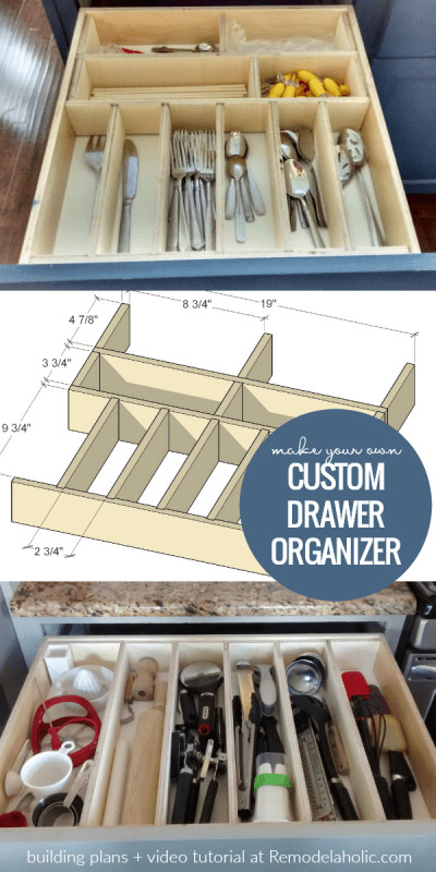 Best ideas about Utensil Drawer Organizer DIY . Save or Pin Remodelaholic Now.