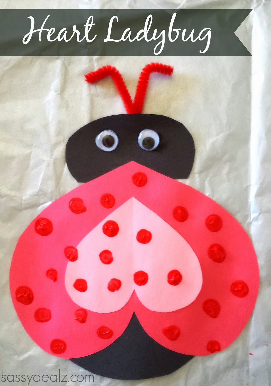Best ideas about Valentine Day Crafts For Preschoolers Easy . Save or Pin Heart Ladybug Valentines Day Craft For Kids Crafty Morning Now.
