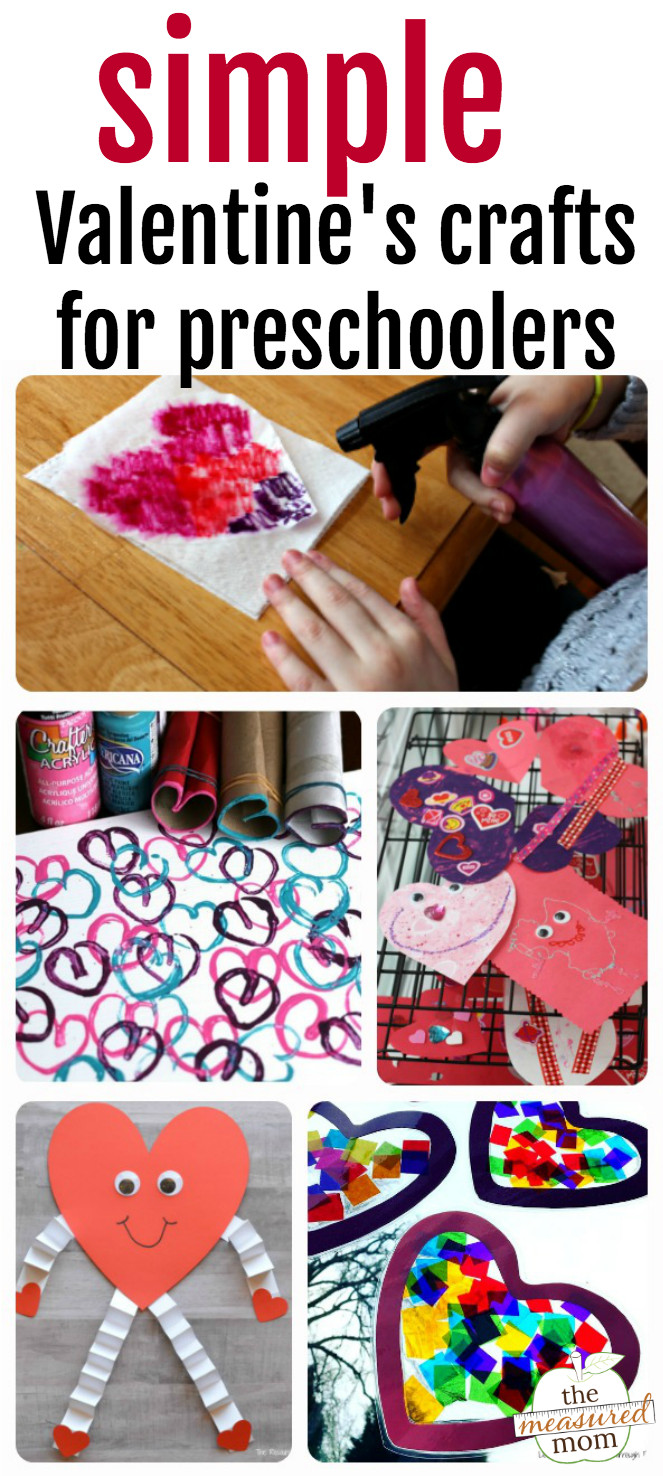 Best ideas about Valentine Day Crafts For Preschoolers Easy . Save or Pin Easy Valentine crafts for preschoolers The Measured Mom Now.