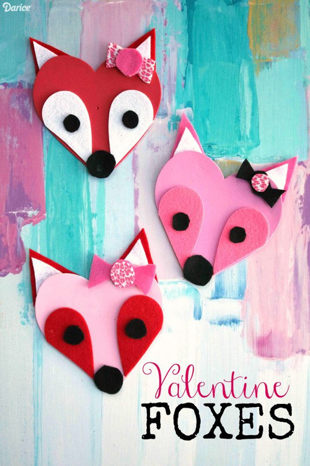 Best ideas about Valentine Day Crafts For Preschoolers Easy . Save or Pin Fun and Easy Valentine's Day KIDS Crafts – Simple Pink Now.