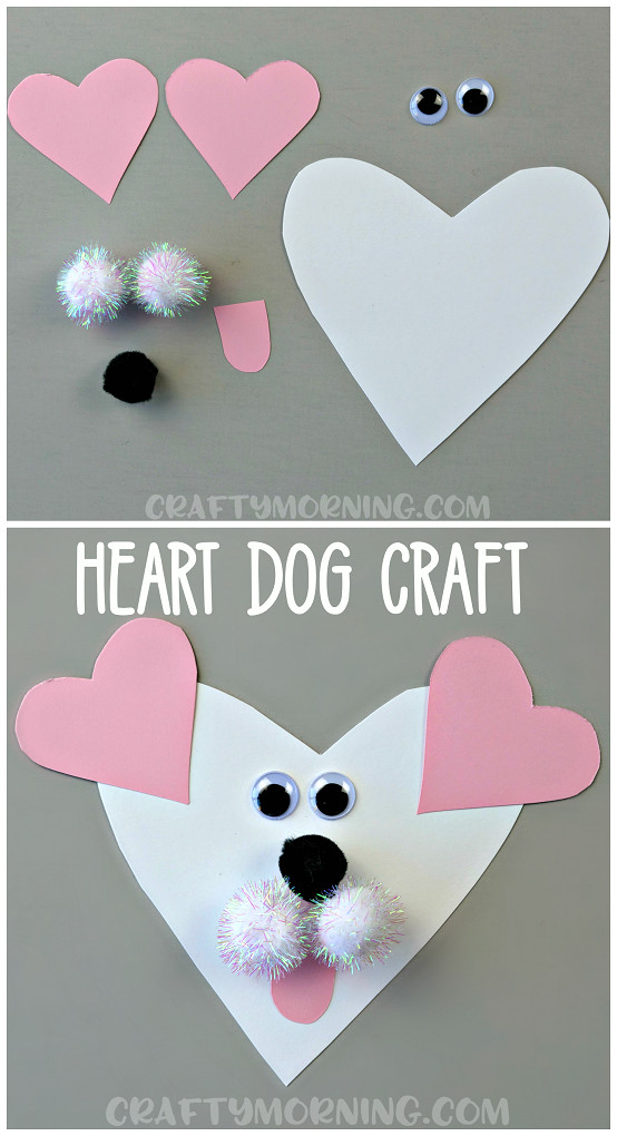 Best ideas about Valentine Day Crafts For Preschoolers Easy . Save or Pin Heart Shaped Dog Valentine Craft Crafty Morning Now.