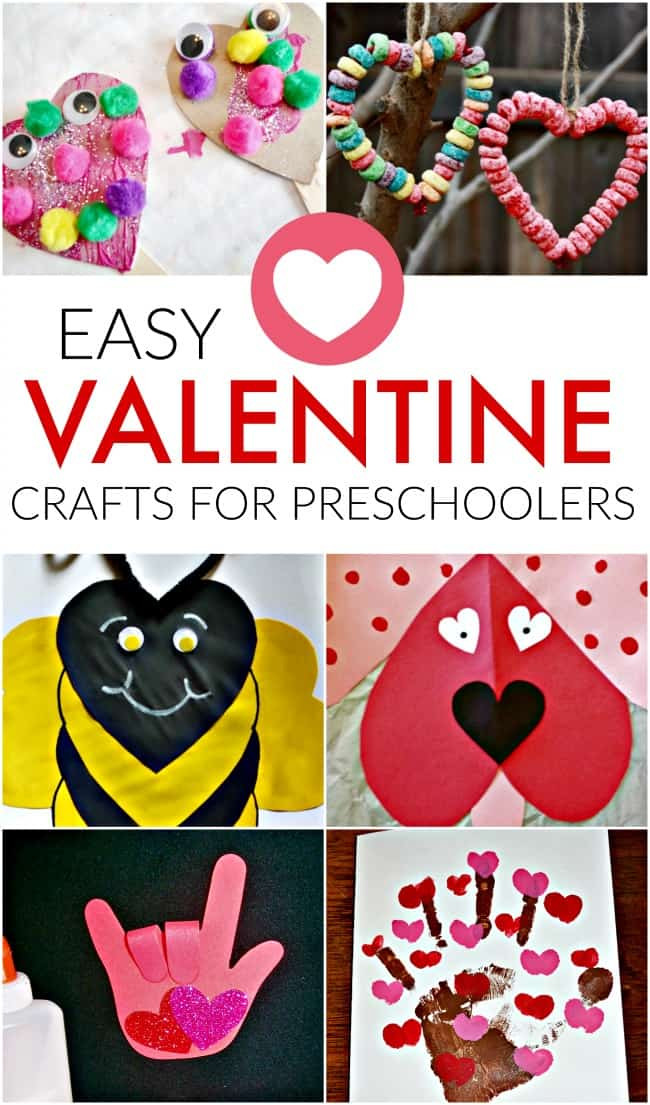 Best ideas about Valentine Day Crafts For Preschoolers Easy . Save or Pin Easy Valentines Crafts for Preschoolers Now.