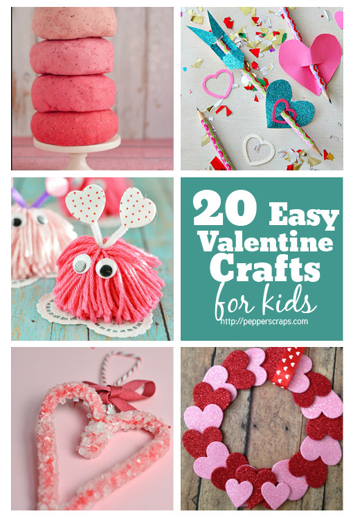 Best ideas about Valentine Day Crafts For Preschoolers Easy . Save or Pin 20 Easy Valentine's Day Crafts for Kids – Pepper Scraps Now.