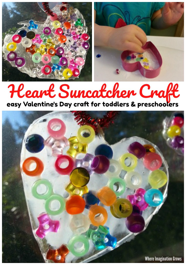 Best ideas about Valentine Day Crafts For Preschoolers Easy . Save or Pin Valentine s Day Heart Suncatcher Craft Where Imagination Now.