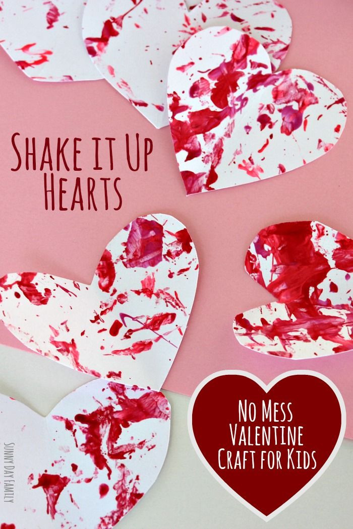 Best ideas about Valentine'S Day Craft Ideas For Preschoolers . Save or Pin Shake It Up Hearts No Mess Valentine Craft for Now.