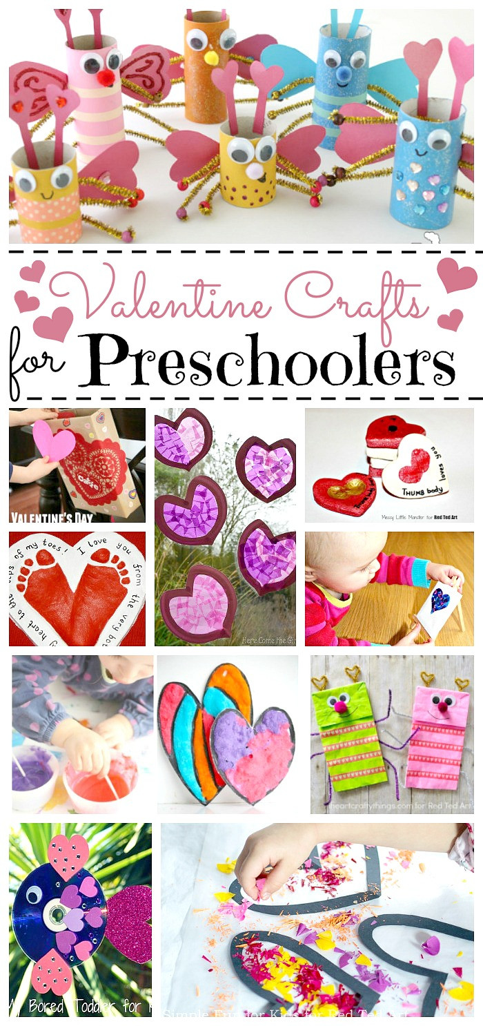 Best ideas about Valentine'S Day Craft Ideas For Preschoolers . Save or Pin Valentine Crafts for Preschoolers Red Ted Art s Blog Now.