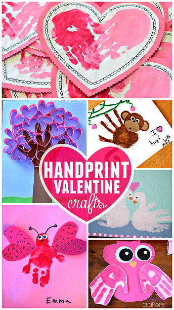 Best ideas about Valentines Craft Ideas For Kids . Save or Pin Valentine s Day Handprint Craft & Card Ideas Crafty Morning Now.