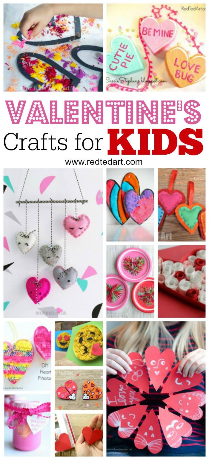 Best ideas about Valentines Day Craft Ideas For Kids . Save or Pin Kids Valentines Day Ideas Red Ted Art s Blog Now.