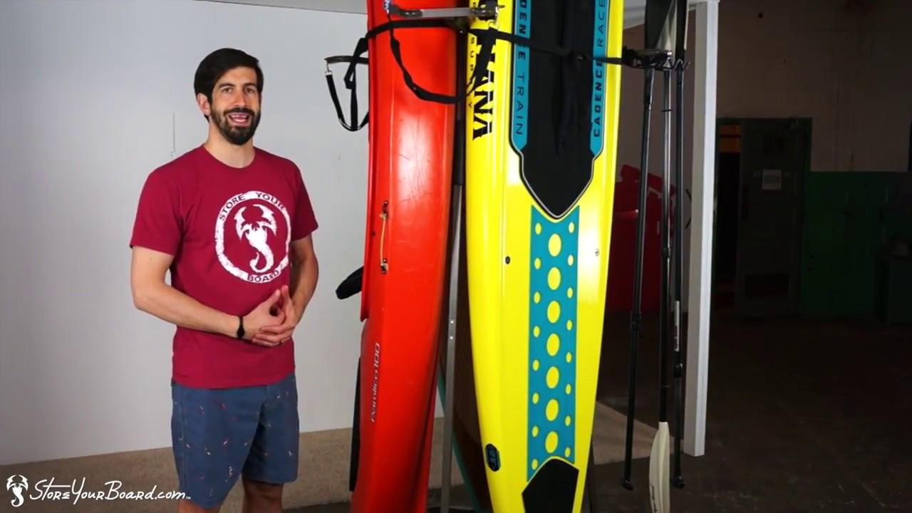Best ideas about Vertical Kayak Storage . Save or Pin 3 Freestanding SUP & Kayak Storage Now.